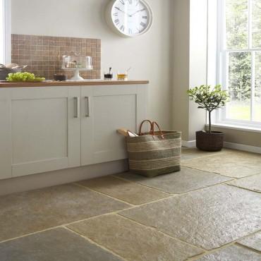 Somerset Autumn Limestone kitchen floor