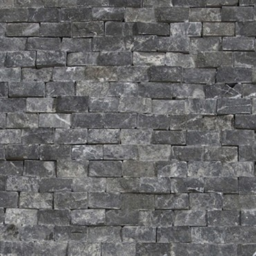 Black Marble Split Face Mosaic