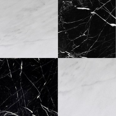 Chess Effect Nero Marquina & Bianco Crystal Marble